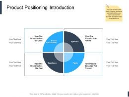 Product Positioning Introduction Ppt Powerpoint Presentation Slides