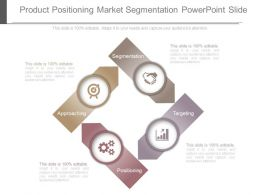 Product Positioning Market Segmentation Powerpoint Slide