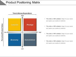 Product Positioning Matrix Ppt Sample File