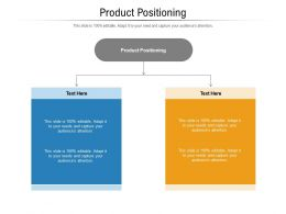 Product Positioning Ppt Powerpoint Presentation Icon Portrait Cpb