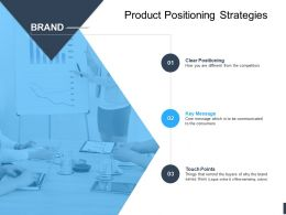 Product Positioning Strategies Brand Ppt Powerpoint Presentation Ideas