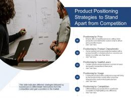 Product Positioning Strategies To Stand Apart From Competition