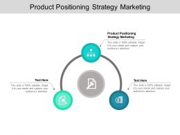 Product Positioning Strategy Marketing Ppt Powerpoint Presentation Icon Infographics Cpb