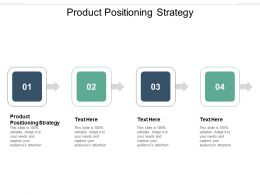 Product Positioning Strategy Ppt Powerpoint Presentation Gallery Background Cpb