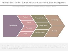 Product Positioning Target Market Powerpoint Slide Background