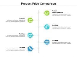 Product Price Comparison Ppt Powerpoint Presentation Styles Mockup Cpb