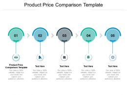 Product Price Comparison Template Ppt Powerpoint Presentation Show Template Cpb