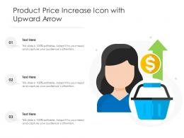 Product Price Increase Icon With Upward Arrow