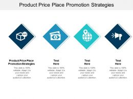 Product Price Place Promotion Strategies Ppt Powerpoint Presentation Styles Show Cpb