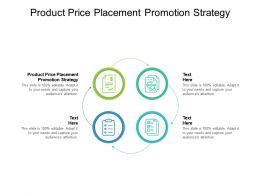 Product Price Placement Promotion Strategy Ppt Powerpoint Pictures Cpb