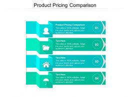 Product Pricing Comparison Ppt Powerpoint Presentation Professional Show Cpb