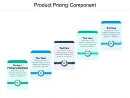 Product Pricing Component Ppt Powerpoint Presentation Model Designs Download Cpb