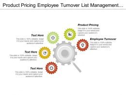 Product Pricing Employee Turnover List Management Market Development