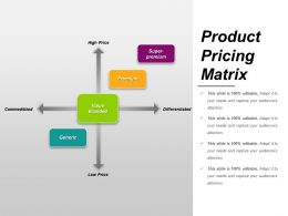 Product Pricing Matrix Ppt Samples