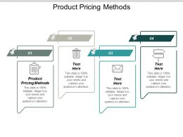 Product Pricing Methods Ppt Powerpoint Presentation Gallery Show Cpb
