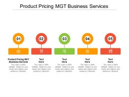 Product Pricing MGT Business Services Ppt Powerpoint Presentation Layout Cpb