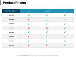 Product Pricing Ppt Outline Background Designs