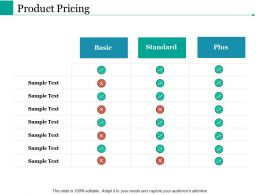 Product Pricing Ppt Powerpoint Presentation File Templates