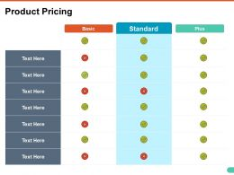 Product Pricing Ppt Show Graphics Pictures