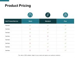 Product Pricing Service Ppt Powerpoint Presentation Gallery Icon