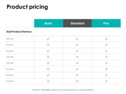 Product Pricing Standard Ppt Powerpoint Presentation File Slide