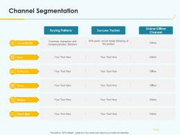 Product Pricing Strategy Channel Segmentation Ppt Elements
