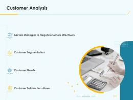Product Pricing Strategy Customer Analysis Ppt Icons