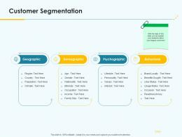 Product Pricing Strategy Customer Segmentation Ppt Template