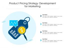 Product Pricing Strategy Development For Marketing
