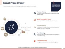 Product Pricing Strategy Ppt Powerpoint Presentation Outline Slides