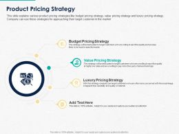 Product Pricing Strategy Ppt Powerpoint Presentation Show Graphics Template