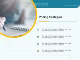 Product Pricing Strategy Pricing Strategies Ppt Summary