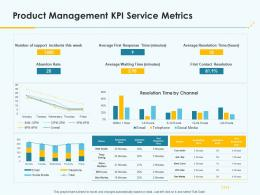 Product Pricing Strategy Product Management KPI Service Metrics Ppt Microsoft