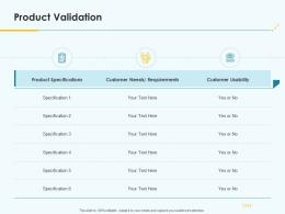 Product Pricing Strategy Product Validation Ppt Sample