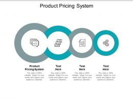 Product Pricing System Ppt Powerpoint Presentation Model Design Inspiration Cpb