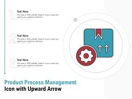 Product Process Management Icon With Upward Arrow