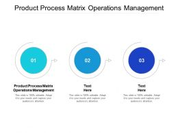 Product Process Matrix Operations Management Ppt Powerpoint Presentation Show Designs Cpb