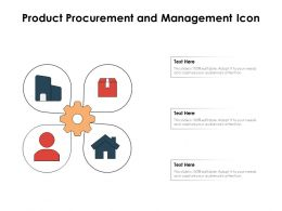 Product Procurement And Management Icon