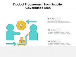 Product Procurement From Supplier Governance Icon