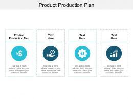 Product Production Plan Ppt Powerpoint Presentation Ideas Objects Cpb