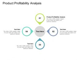 Product Profitability Analysis Ppt Powerpoint Presentation Styles Guide Cpb