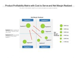 Product Profitability Matrix With Cost To Serve And Net Margin Realized