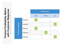 Product Profitability Matrix With Customer Response