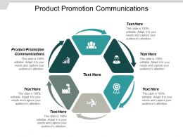 Product Promotion Communications Ppt Powerpoint Presentation Styles Microsoft Cpb