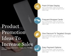 Product Promotion Ideas To Increase Sales Ppt Slide