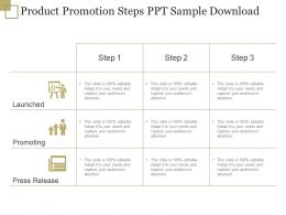 Product Promotion Steps Ppt Sample Download