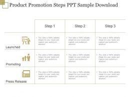 Product Promotion Steps Ppt Sample Download