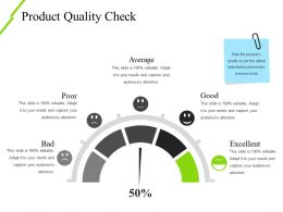 Product Quality Check Ppt Slide