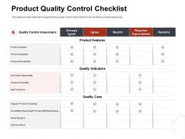 Product Quality Control Checklist Neutral Ppt Example File