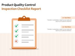Product Quality Control Inspection Checklist Report